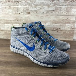Nike Free Flyknit Chukka Wolf Grey Photo Blue